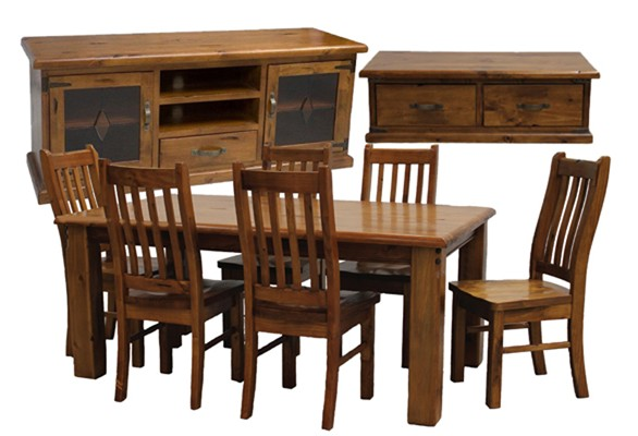 Rent Or Hire Solid Timber Federation Lounge Dining Package